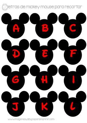 Letras de Mickey mouse