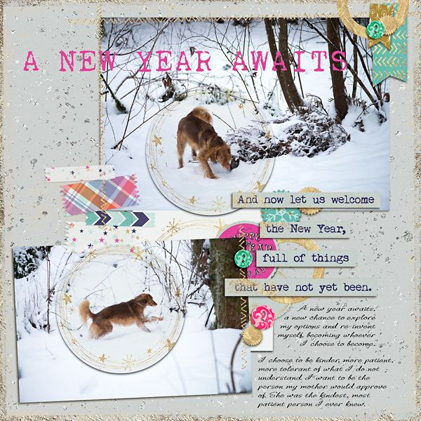 A New Year Awaits by Rae at The Lilypad using digital scrapbooking products from The Lilypad