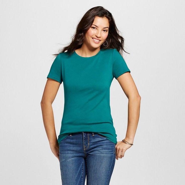 Women's Ultimate Crew Tee Windward Green X - Merona, Size: Small