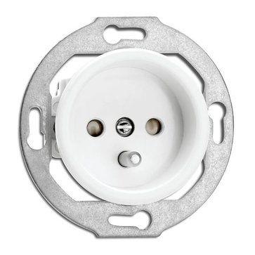 Przykład gniazdek i włączników do łazienki i WC (Gniazdo z uziemieniem THPG duroplast biały (184728))