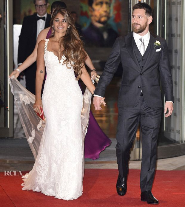 Lionel Messi just married childhood sweetheart Antonella Roccuzzo in Rosario, Argentina. This time they are choosing a beautiful lace wedding gown fm a Spanish brand. Messi is one of my favorite football players because of his talents on football, his humility character as well as his devotion on love!  And we are keeping supplying best quality silks for wedding brands all over the world as we always do!