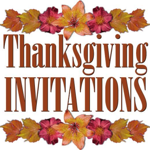 These free Thanksgiving invitation templates include two modern designs and three that are more traditional. They'll help you invite your Thanksgiving dinner guests in a way that will make them feel special!