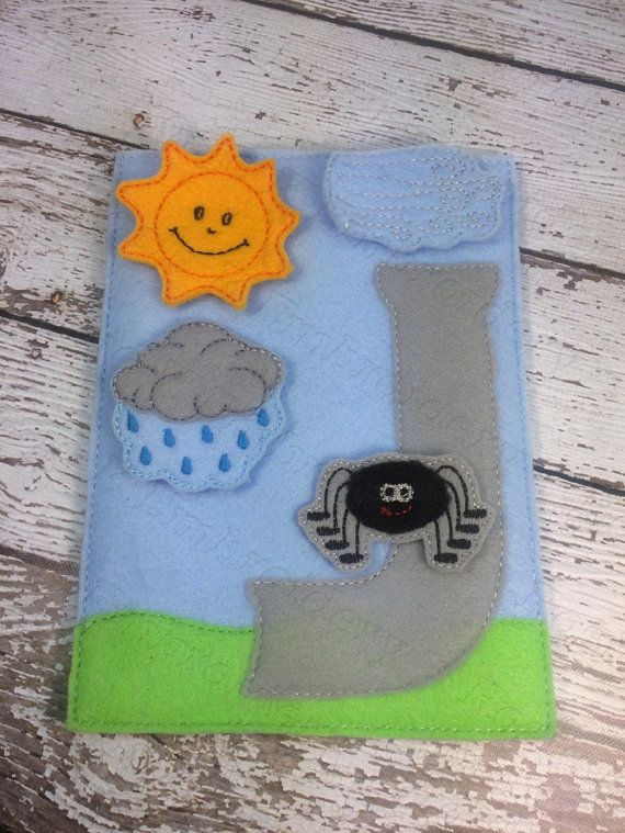 Itsy Bitsy Spider Story time Play board for felt boards circle time rug time preschool library educational play for toddlers and children.