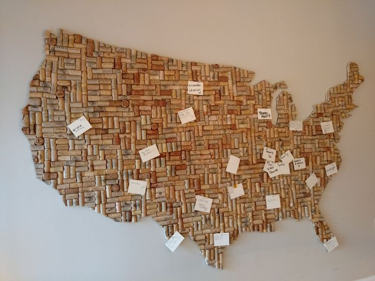 23 best Made It! images on Pinterest Cork map, Corks and Wine - copy large world map for the wall