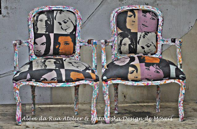 Poltronas Luis Felipe - Uma customização a 4 mãos!!! by ALÉM DA RUA ATELIER/Veronica Kraemer, via Flickr
