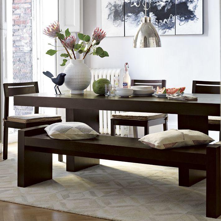 West Elm Terra dining table & bench  kitchen design  Pinterest
