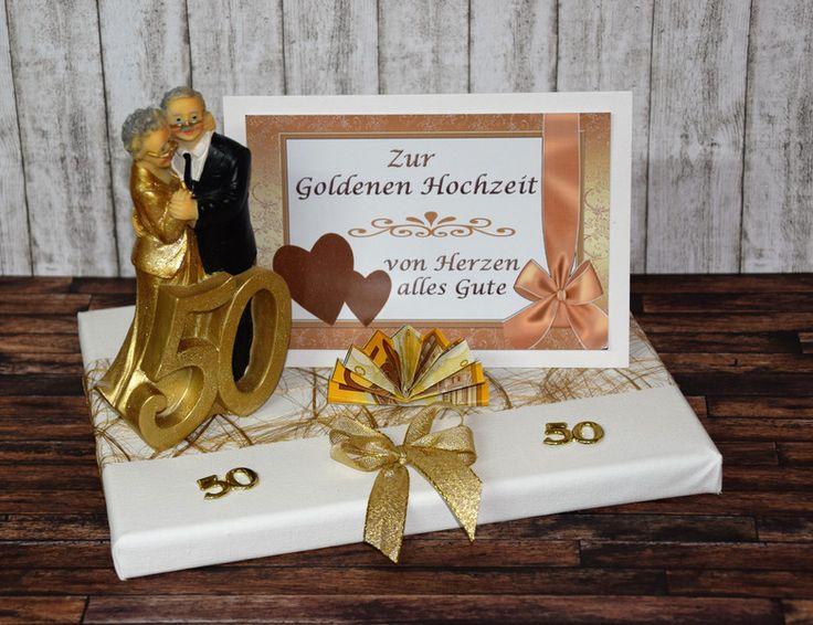 Geldgeschenke - GELDGESCHENK ZUR GOLDENEN HOCHZEIT *50* - ein Designerstück von Xawega bei DaWanda