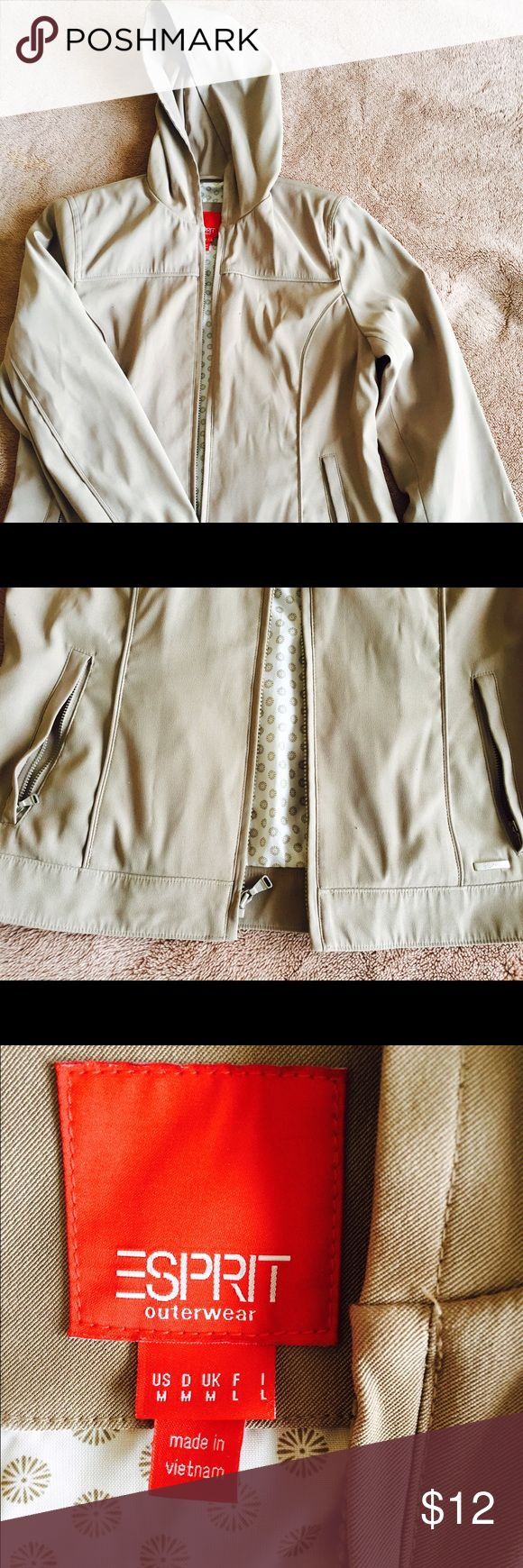 Women's rain jacket size M Color Tan Brown Size M Gently used Esprit Jackets & Coats