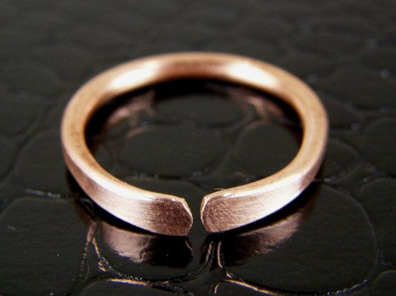 Stackable Copper Ring Mens or Womens Any Size Made to Order -etsy