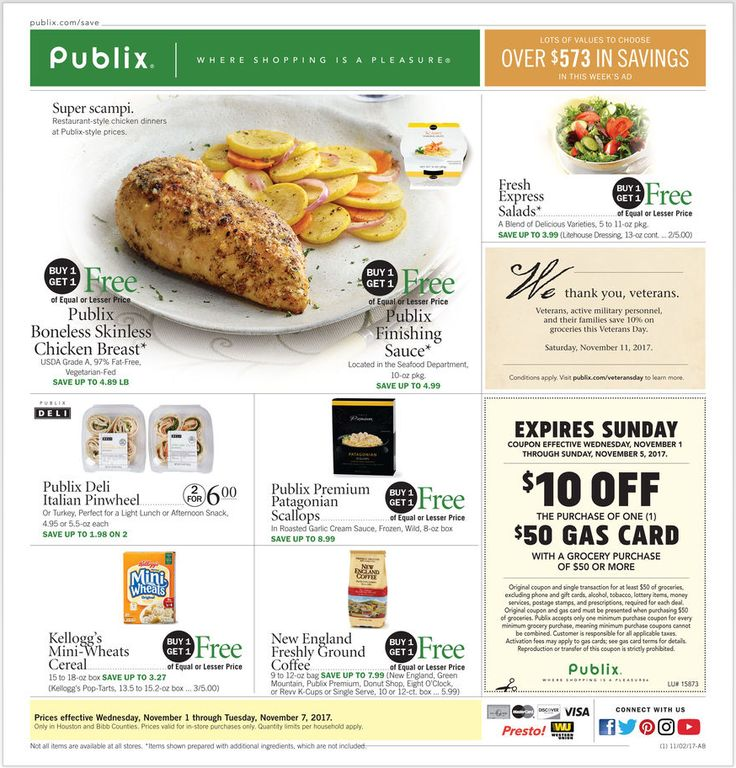 Publix Weekly Ad November 1 - 7, 2017 - http://www.olcatalog.com/grocery/publix-weekly-ad.html