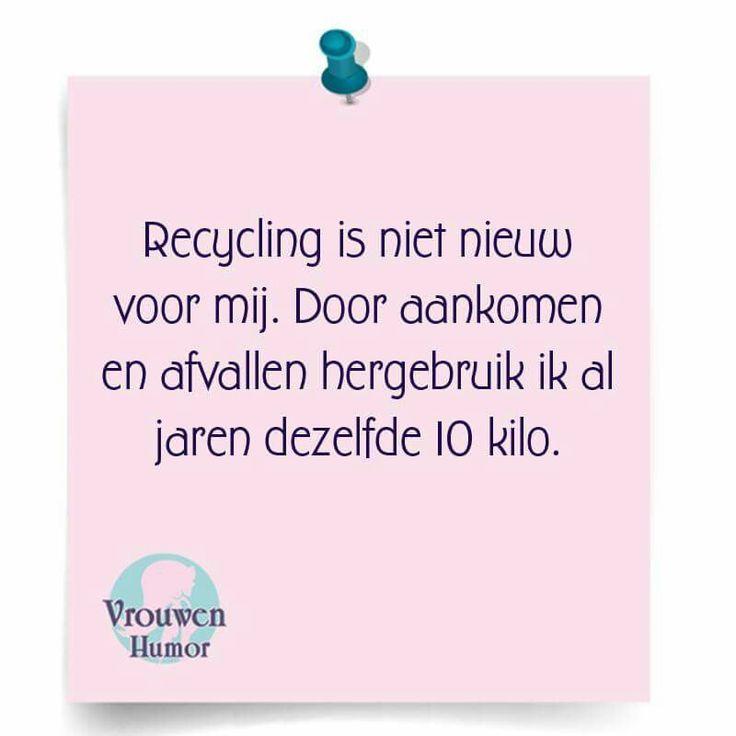 Ik recycle wel rustig verder
