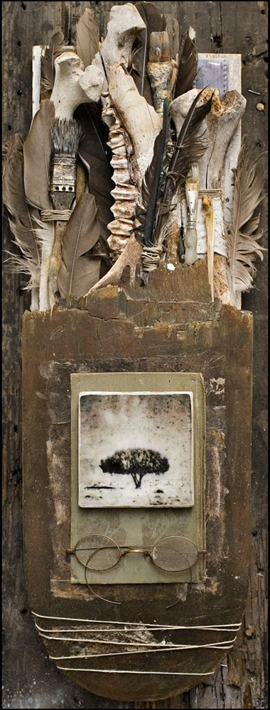 ⌼ Artistic Assemblages ⌼ Mixed Media, Journal, Shadow Box, Small Sculpture Collage Art - James Walker