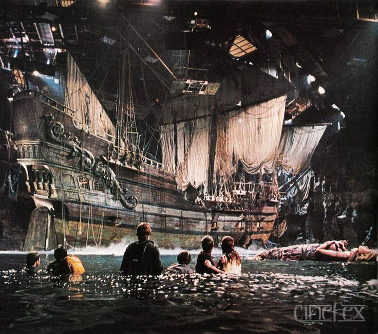 """One-Eyed Willy's pirate ship """"Inferno"""" from GOONIES (1985)."""