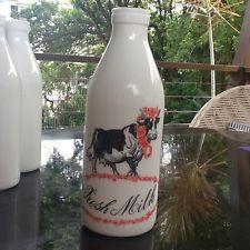 Egizia Italian collectable milk glass bottle