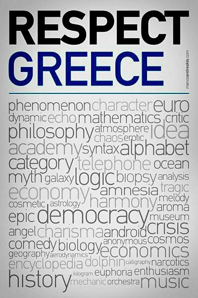 Some of the many Greek words that are used globally
