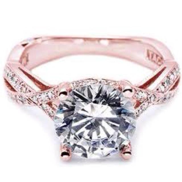 Tacori 2 toned. Rose and white goldWedding Ring, Gold Engagement Rings, Rosegold, Diamonds, Rose Gold Engagement, Engagementrings, Jewelry, Dreams Rings, Rose Gold Rings