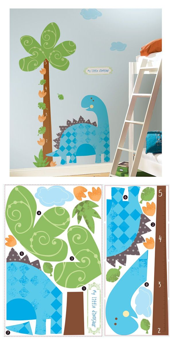 Babysaurus Growth Chart - Wall Sticker Outlet