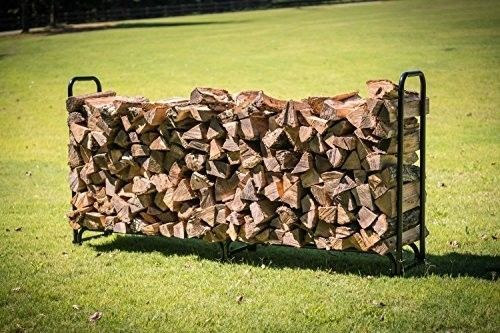 Outdoors-8-ft-Firewood-Wood-Log-Rack-Lumber-Storage-Holder-Backyard-NEW-BRAND