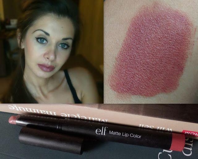 Elf Matte Lip Color - ruj/creion rezistent la transfer: http://www.vintagelooksimona.com/2015/10/elf-matte-lip-color-praline-stick.html