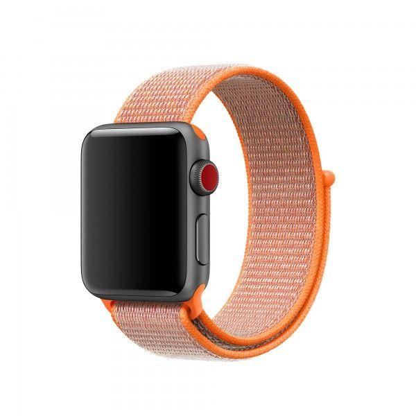Apple Sport Loop Armband Fur 38mm Apple Watch Orangerot Apfeluhr Uhrenarmbander Nylons