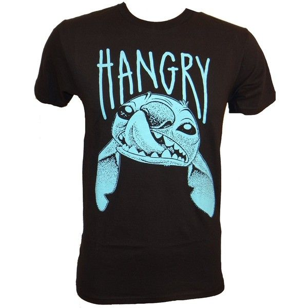 Disney Lilo And Stitch Hangry T-shirt ($20) ❤ liked on Polyvore featuring tops, t-shirts, disney, disney tops, disney t shirts, disney tee and stitch t shirt