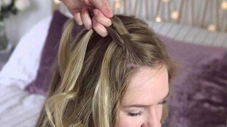 Bridesmaid braid style tutorial for long hair by Zoella - All Things Hair// waterfall braid