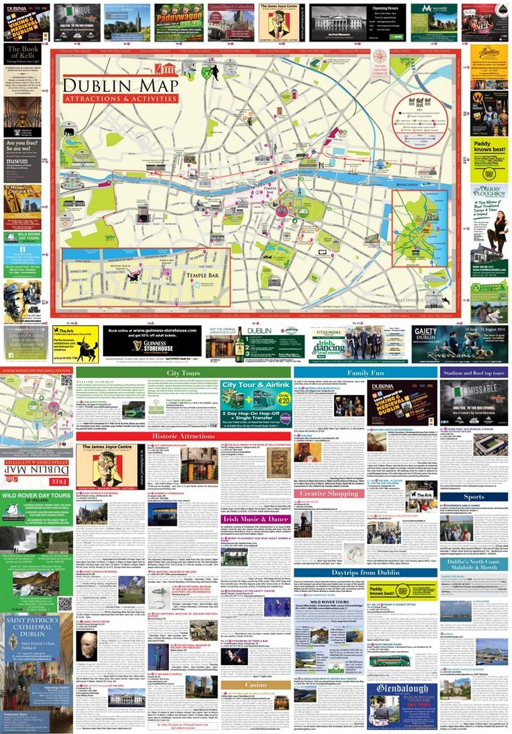 Dublin tourist attractions map