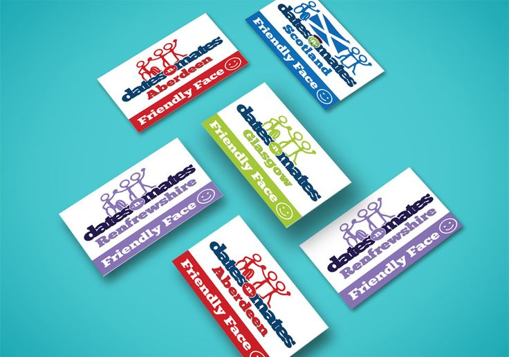 FRIENDLY FACE – Pile of ID card designs dates-n-mates Friendly Face for all local branches.  #card #design #branding #logo #identity