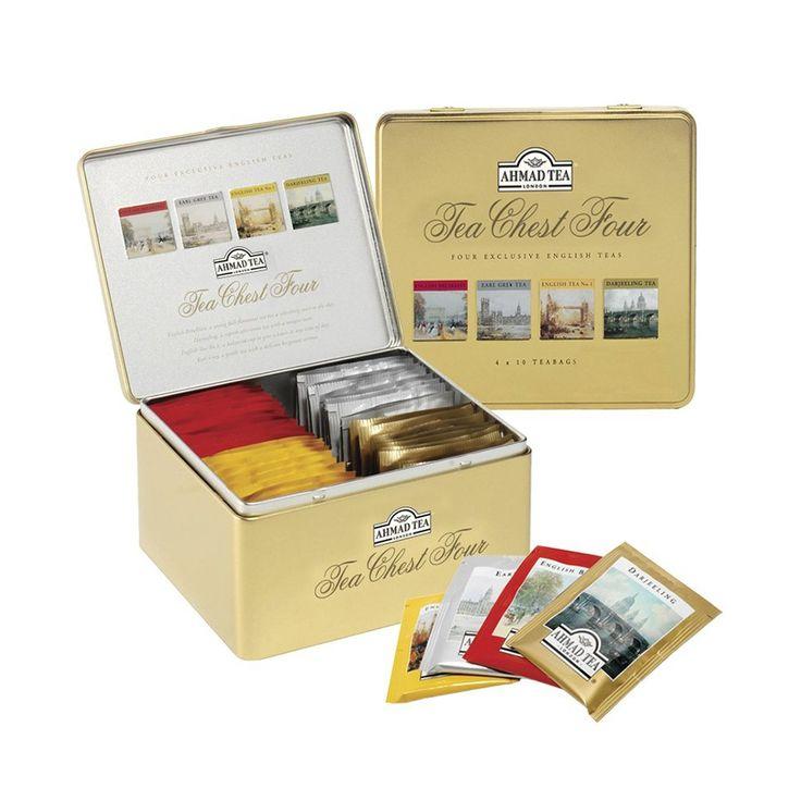 Ahmad Tea Tea Chest Four, four flavors, ten bags each  #birchbox
