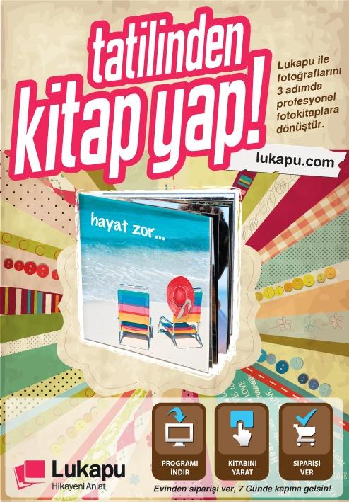 Lukapu.com için eğlenceli bir afiş tasarımı designed by kreatin