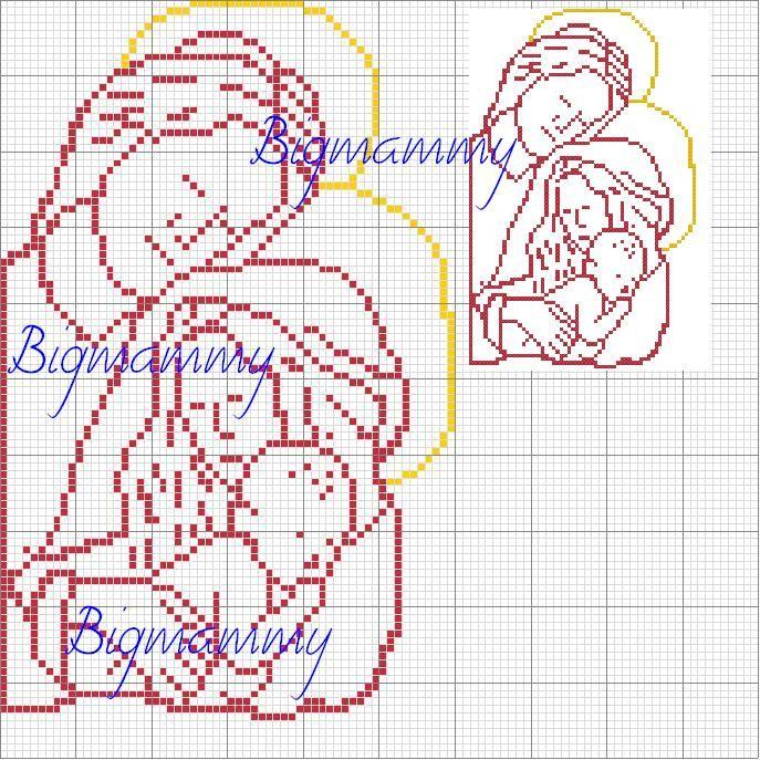 free Holy Family cross stitch