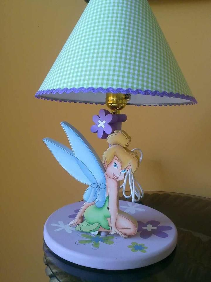 Tinkerbell lamp for girls Lampara de Campanita Tinkerbel