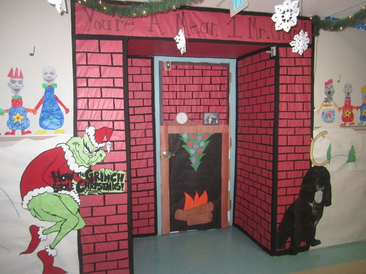 Best 25+ The grinch door decorations for school ideas on