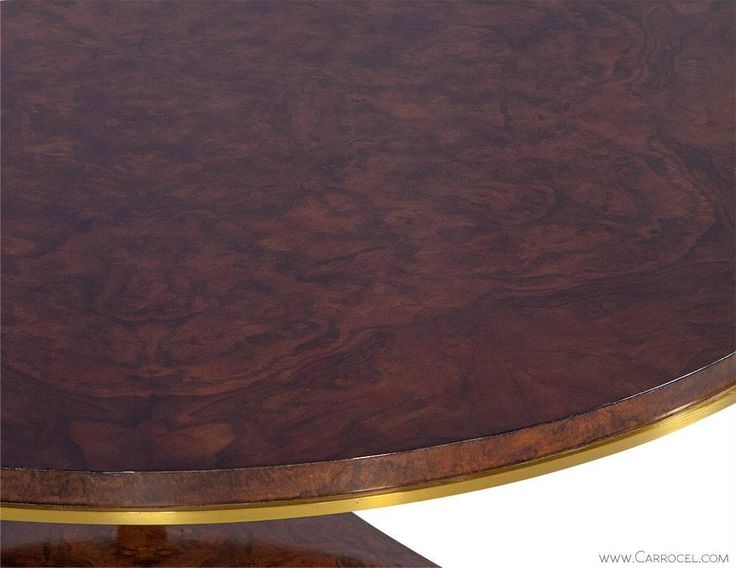Crosby Table by Aerin Round Burled Wood Cocktail Table For Sale at 1stdibs