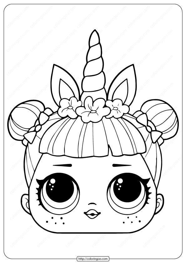 Lol Surprise Unicorn Mask Coloring Page Unicorn Coloring Pages Unicorn Mask Doll Drawing