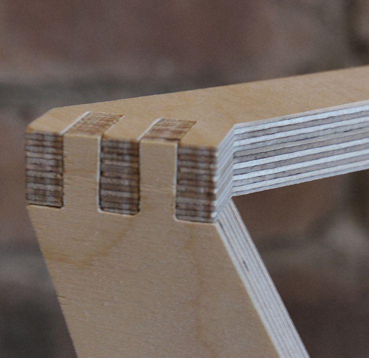 low back day chair - detail - birch plywood furniture - flatpack - nomadic design studio - bespoke - handmade