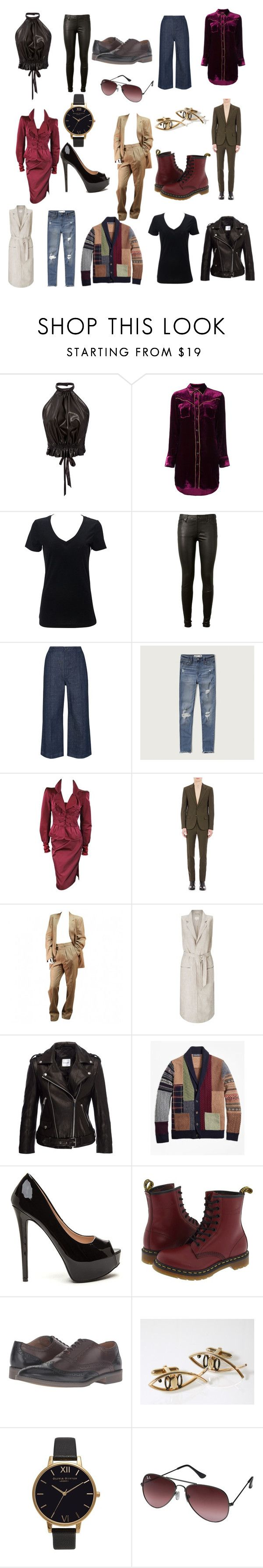 """FemBois 2 M.I.N  ( Me In Nice Clothes )"" by veganchefmarie on Polyvore featuring Rodarte, Yves Saint Laurent, AG Adriano Goldschmied, Whistles, Abercrombie & Fitch, Tom Ford, Maison Margiela, EAST, Anine Bing and Brooks Brothers"