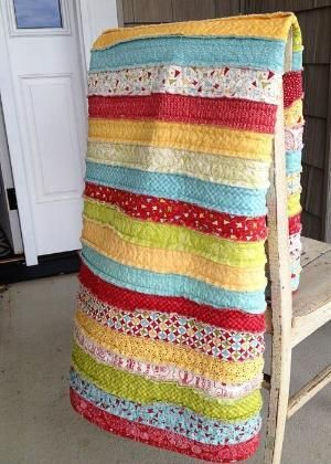 The easiest quilt you will ever make! #quilt by late4thebus