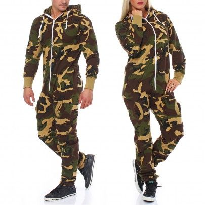 g8one herren damen jumpsuit jogging anzug trainingsanzug overall army camo camouflage. Black Bedroom Furniture Sets. Home Design Ideas
