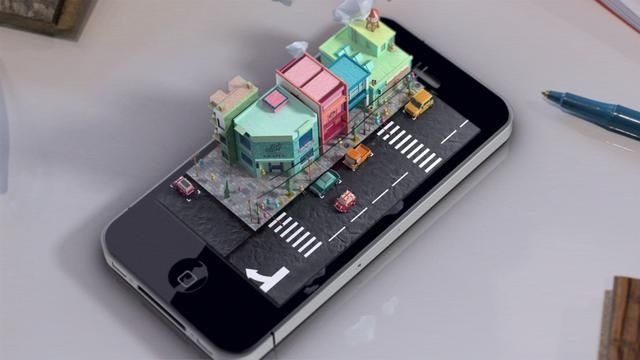 iphone- diorama by Mike Ko. One of my graduation pieces.