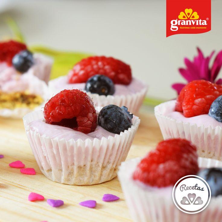 Mini tartas de fruta con Granola Granvita. Ideales para compartir.