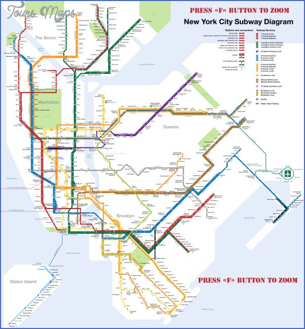 cool New York map train station