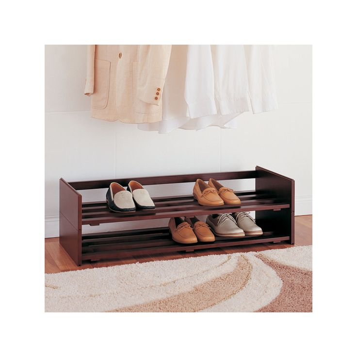 Neu Home 2-pc. Stackable Shoe Rack Set, Multicolor