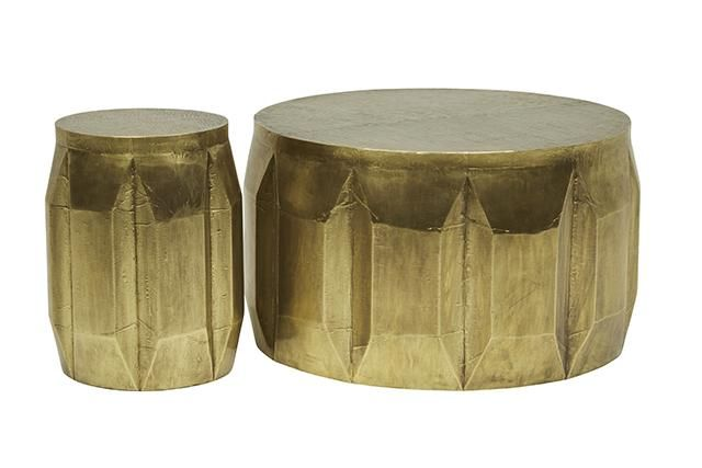 Vionnet Carved Coffee and Side Table