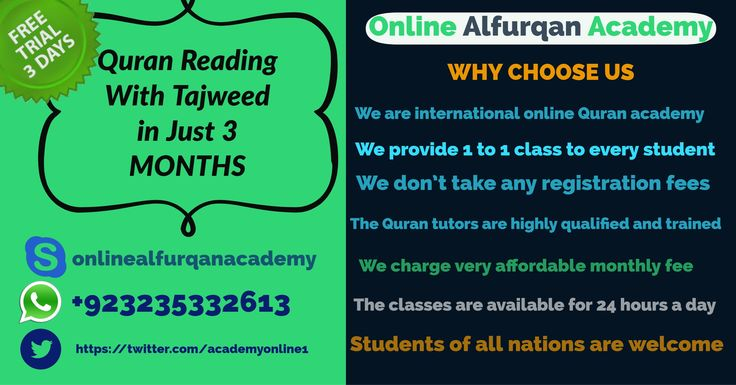 We have the mission to serve the Muslim community by giving them Online Quran classes and Islamic education with more ease. Our courses are especially designed for you and your kids. This program will provide you step by step Quran Learning with the rules of Tajweed and Essential Islamic Learning for children by online Quran Tutors and what's more... All this by just sitting in front of Computer without leaving your home.