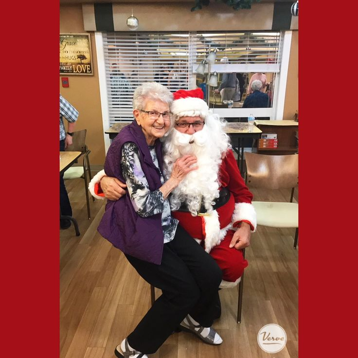 Santa visited the Dr. James Hemstock Residence during a Christmas concert put on by the staff.