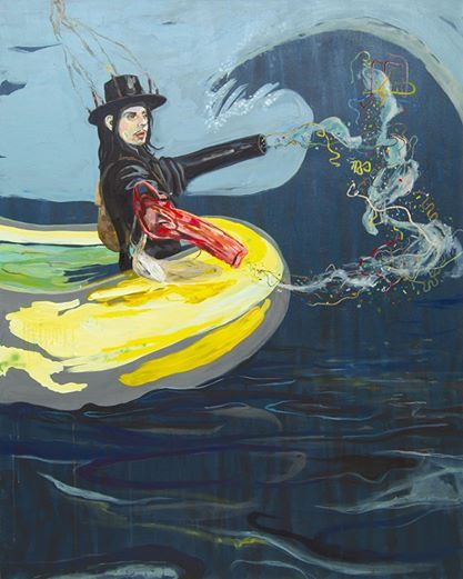 Wolfgang Neumann Boot/The Boat (Jack White) 2007, Mixed media on canvas Mischtechnik auf Leinwand, 150 x 120 cm