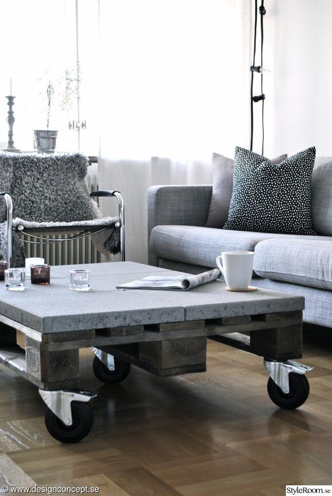 efter renovering,soffbord,soffbord av lastpall,grå soffa,soffa ikea karlstad