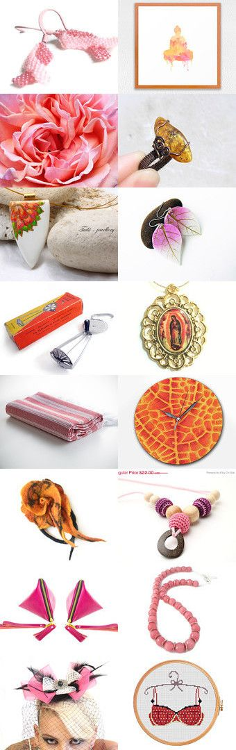 Today's finds by Pili Thub on Etsy--Pinned with TreasuryPin.com  Porcelain Rose featured (3rd row left) thank you!