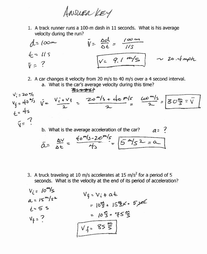 50 Acceleration Practice Problems Worksheet In 2020 With Images